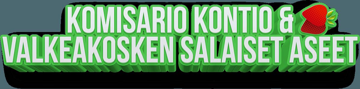 Komisario Kontio & Valkeakosken salaiset aseet logo.